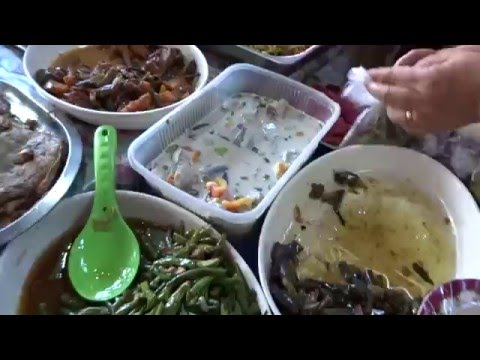 Filipino Food - Lapulapu carinderia, Mactan, Cebu, Philippines
