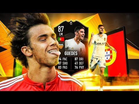 IS HE WORTH 100K?! 87 TEAM OF THE KNOCKOUT STAGE GUEDES PLAYER REVIEW! FIFA 19 Ultimate Team