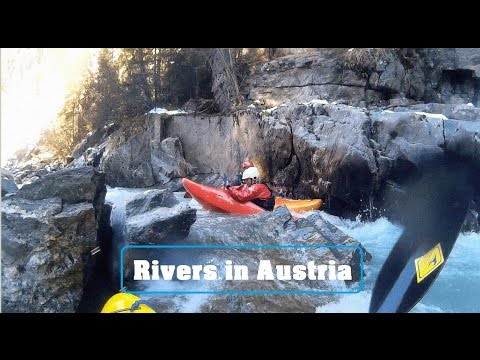 Rivers in Austria – Carnage beaters swimming and fails, Whitewater Kayaking