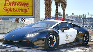 GTA 5 MODS LSPDFR 741 - SUPERCARS PATROL !!! (GTA 5 REAL LIFE PC MOD)