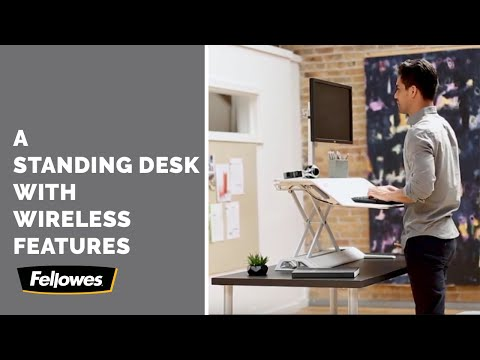 Fellowes' Standing Desk Riser Builds Wireless Charging Right In