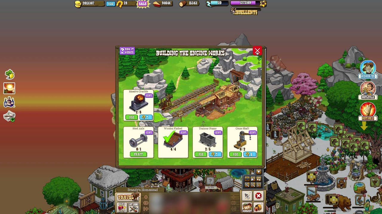 Old Facebook Games Zynga S Pioneer Trail Youtube