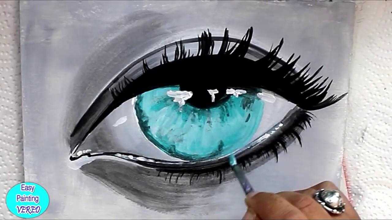 auge malen für anfänger  realistisches auge zeichnen mit