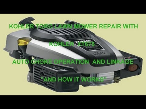 "toro-lawn-mower-repair-with-kohler-xt675-auto-choke-operation-and-linkage-""and-how-it-works"""