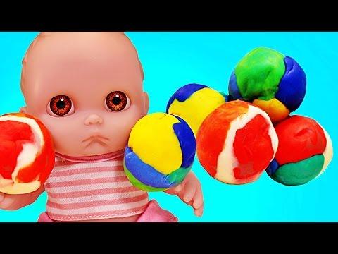 Куклы Пупсики Открывают сюрпризы из пластилина Свинка Пеппа, Барбоскины и Миньоны Игрушки Зырики ТВ