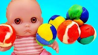 Куклы Пупсики Открывают сюрпризы из пластилина Свинка Пеппа Барбоскины и Миньоны Игрушки Зырики ТВ
