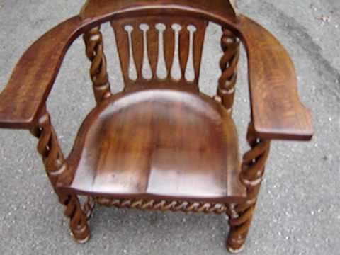 Open Barley Twist Courtroom Jury Chair Back from Restorer