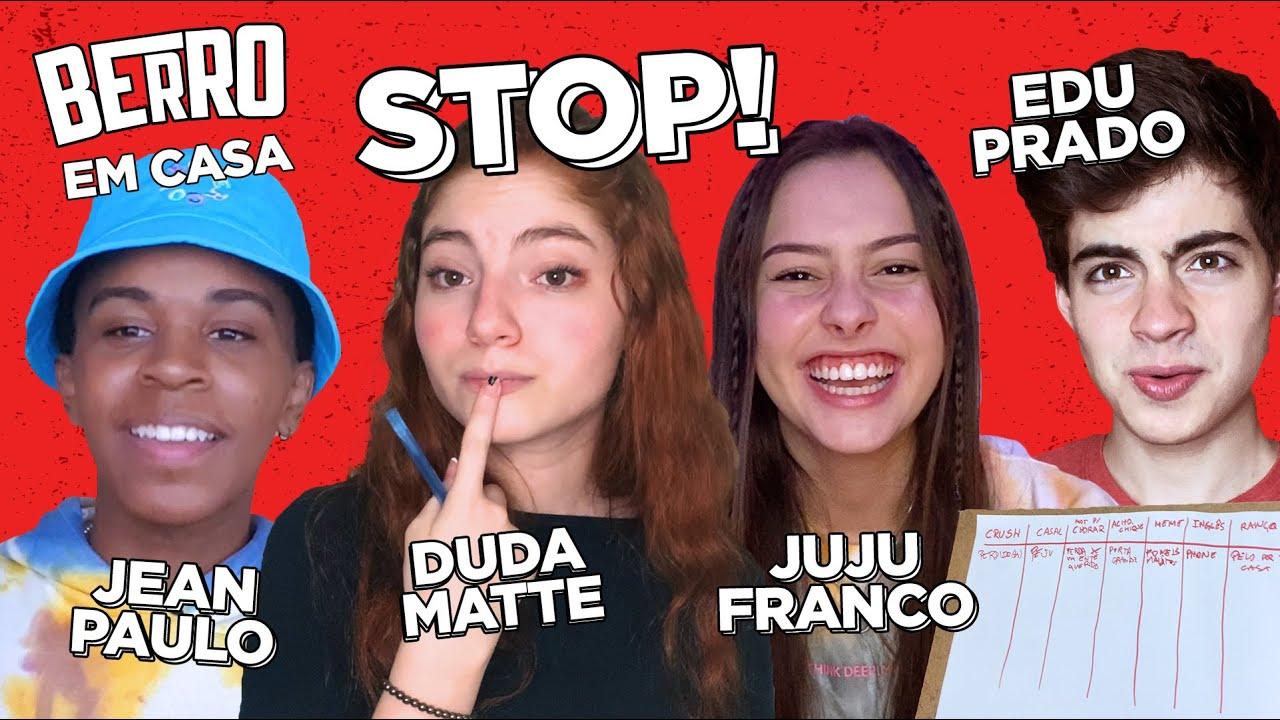 APELIDO DE CASAL? RANÇO? JUJU FRANCO, ED PRADO, DUDA MATTE e JEAN PAULO CAMPOS jogam STOP diferentão