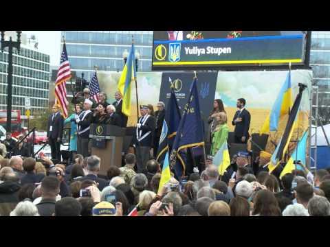 Dedication of the Ukrainian Holodomor Monument in Washington DC Part 1