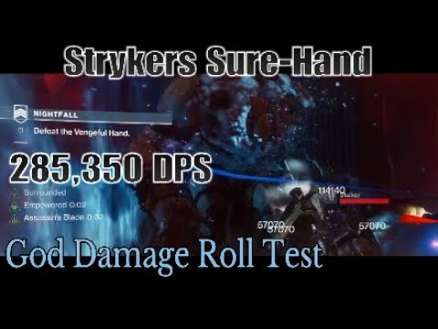 Strykers Sure-Hand GOD ROLL | MAX DAMAGE Nightfall Test (Warlock) [Destiny 2] The Black Armory