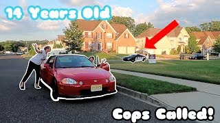 PSYCHO PARENTS TEACH ME HOW TO DRIVE AT 14 YEARS OLD! *MOM GOES CRAZY* COPS WERE CALLED!