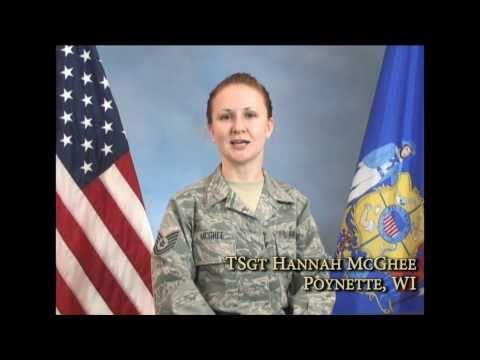 I am the Wisconsin National Guard:  TSgt Hannah McGhee