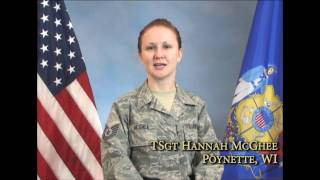 I am the Wisconsin National Guard:  TSgt Hannah McGhee