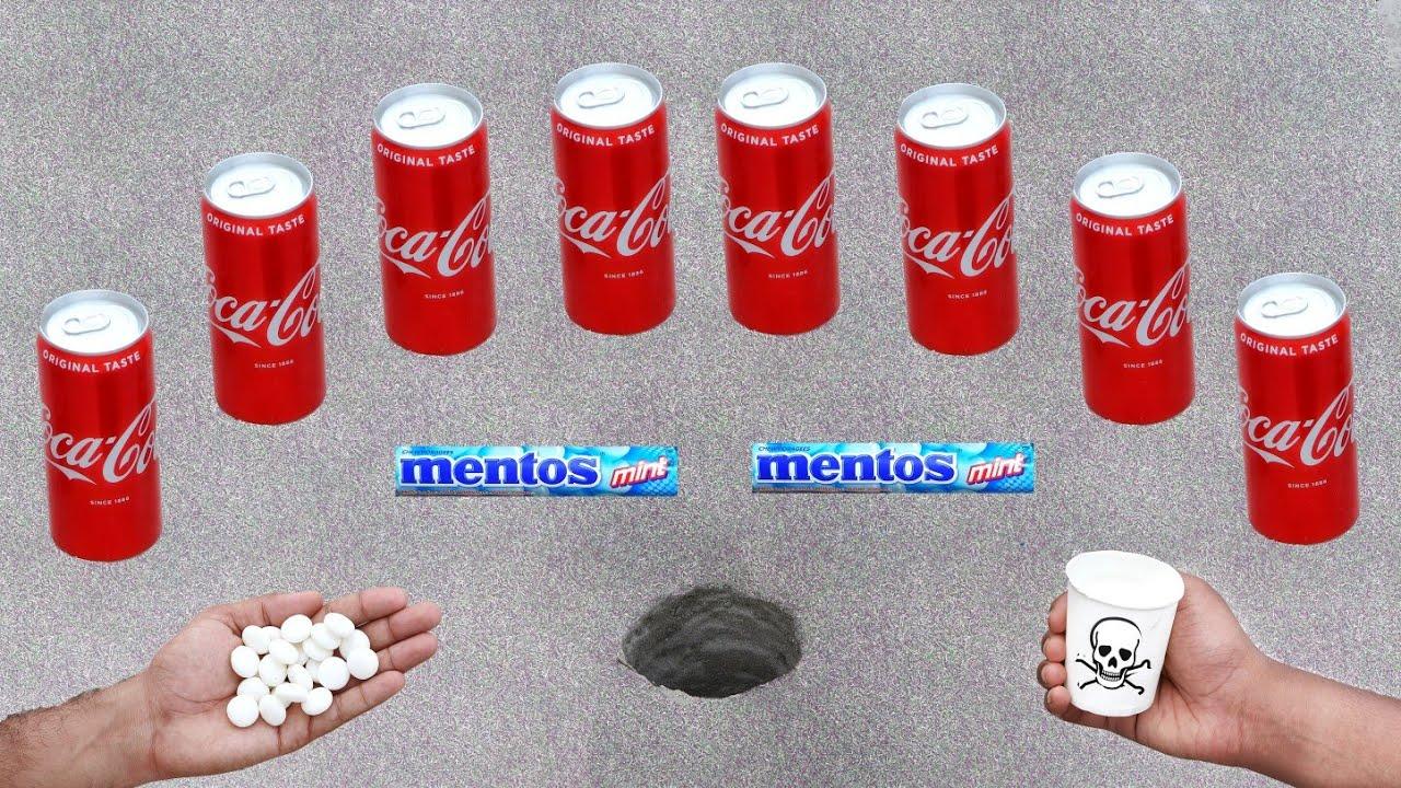 EXPERIMENT : COCA COLA vs MENTOS UNDERGROUND