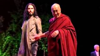 Dalai Lama steals the laughs from British comic Russell Brand