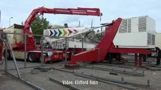 Sound Machine Transport en opbouw kermis Hillegom