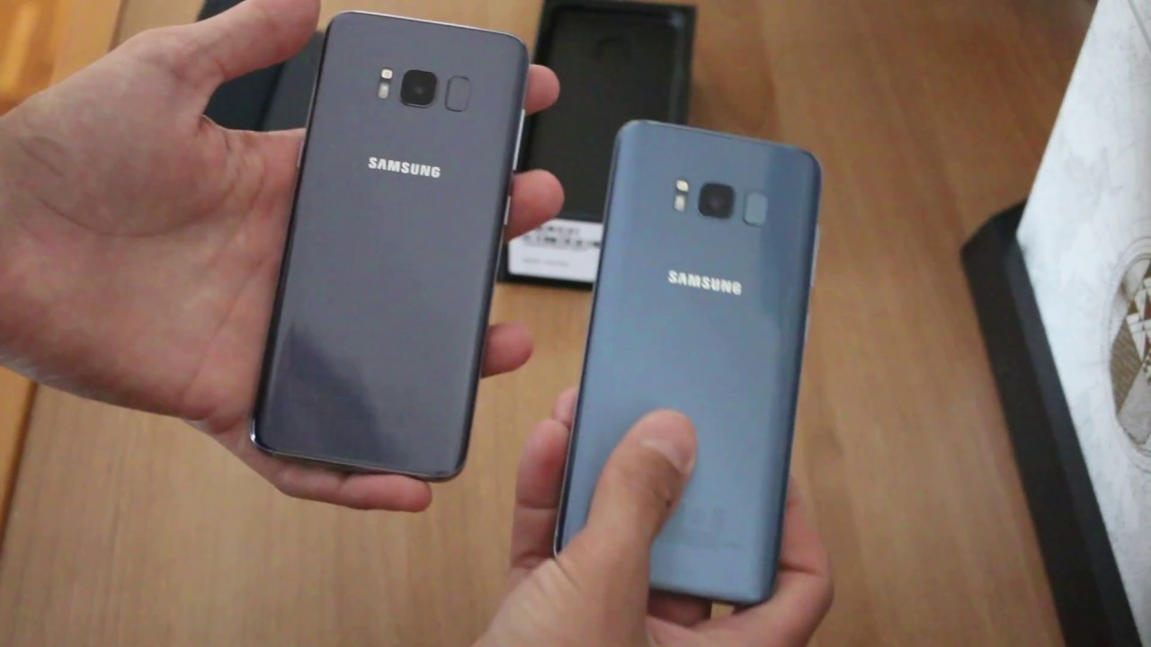 Galaxy S8 Coral Blue Vs Orchid Grey Youtube