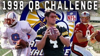 Favre, McNair, Harbaugh, Dilfer, & More Compete in Accuracy, Distance, & Agility