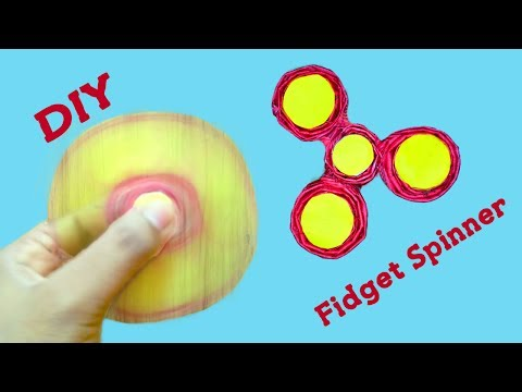 How To Make A Paper Fidget Spinner Without Bearings! NO TEMPLATE needed - Paper fidget spinner DIY