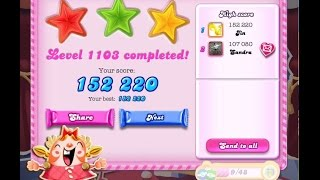 Candy Crush Saga Level 1103    ★★★   NO BOOSTER