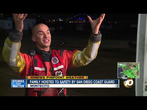 Family hoisted to safety by San Diego Coast Guard