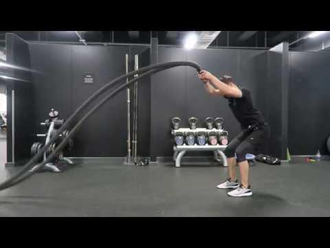 Battle rope exercise - power slams