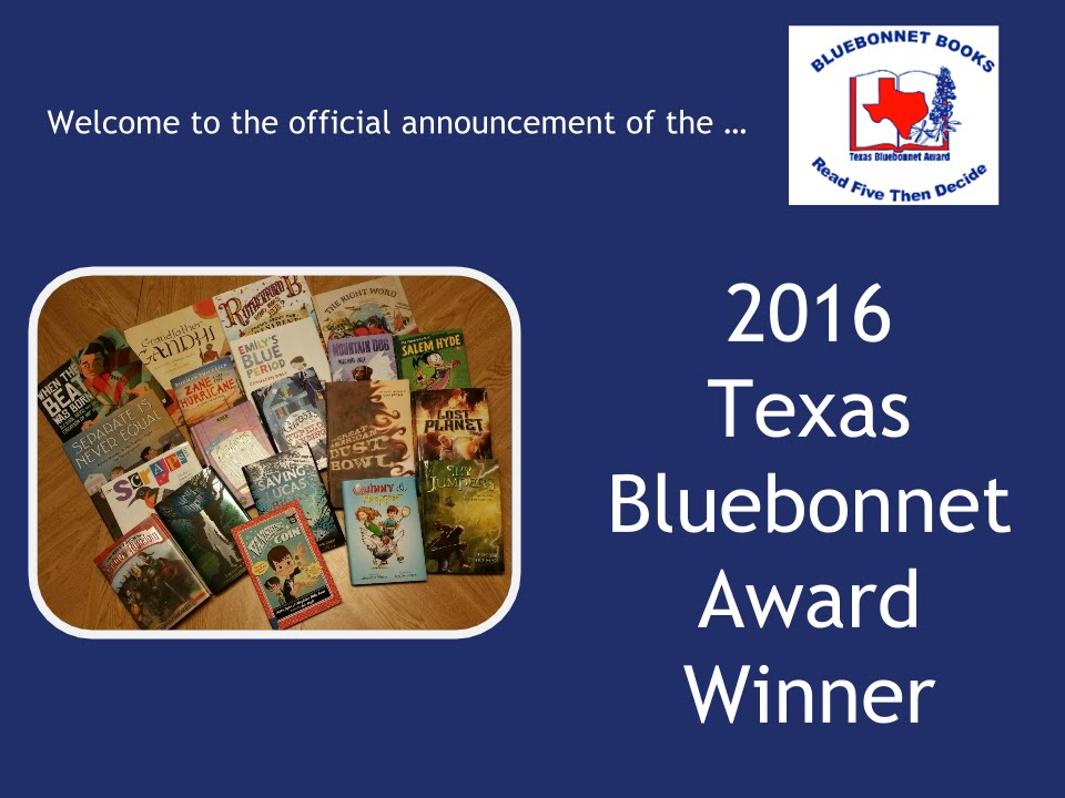 Texas Bluebonnet Awards - 2016 - YouTube