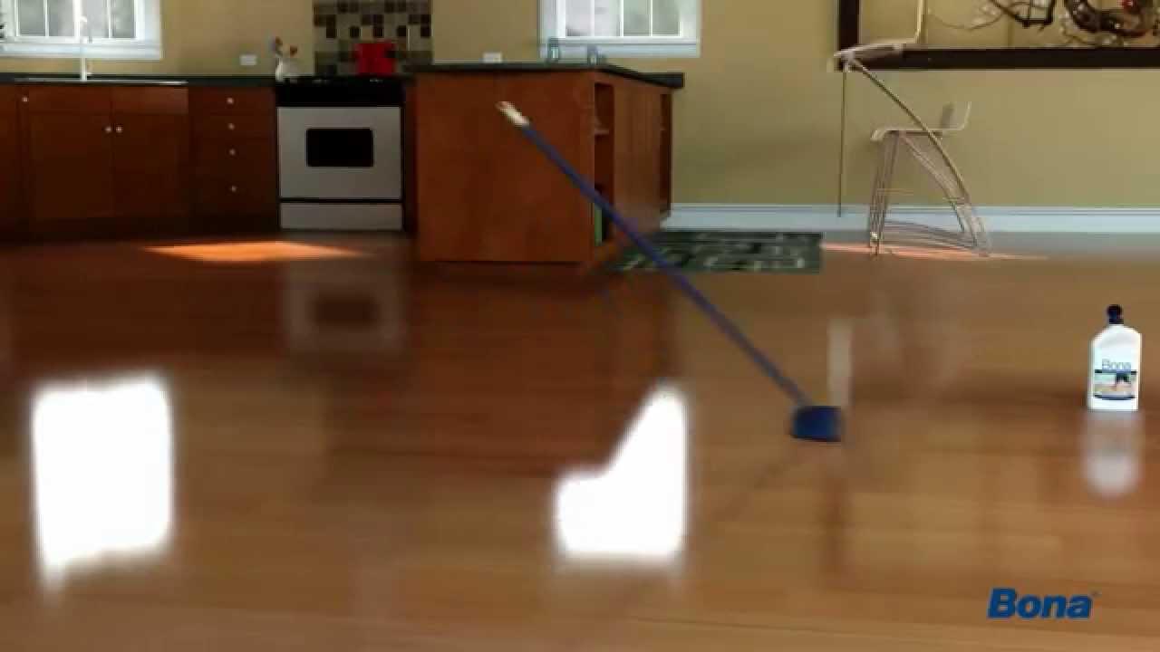 How to polish hardwood floors with Bona - YouTube