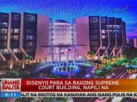 UB: Disenyo para sa bagong Supreme Court building, napili na