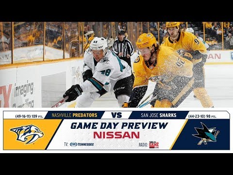 NHL 18 PS4. REGULAR SEASON 2017-2018: San Jose SHARKS VS Nashville PREDATORS. 03.29.2018. (NBCSN) !