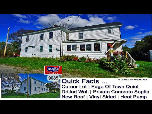 Home For Sale In Patten Maine Video | Maine Real Estate Listing MOOERS REALTY 9085
