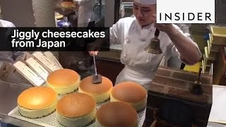 Jiggly Japanese cheesecakes