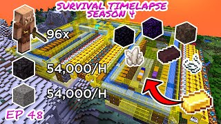 MEGA Piglin Bartering System/Farm | Minecraft Survival Timelapse Season 4 Episode 48