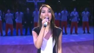 소향(Sohyang) -  US National Anthem for NBA game(2014.03.01) 미국 국가