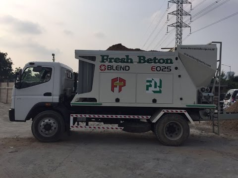 FRESH BETON INDONESIA MOBILE CONCRETE PLANT BLEND E025