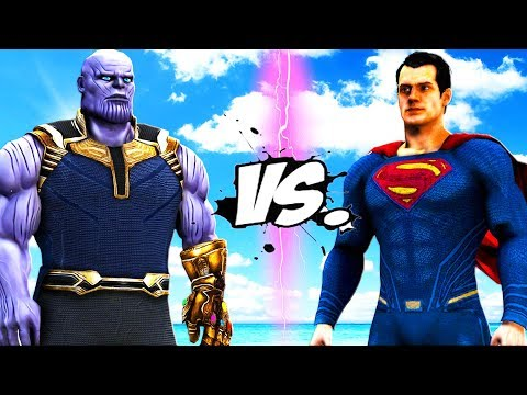THANOS VS SUPERMAN - EPIC BATTLE