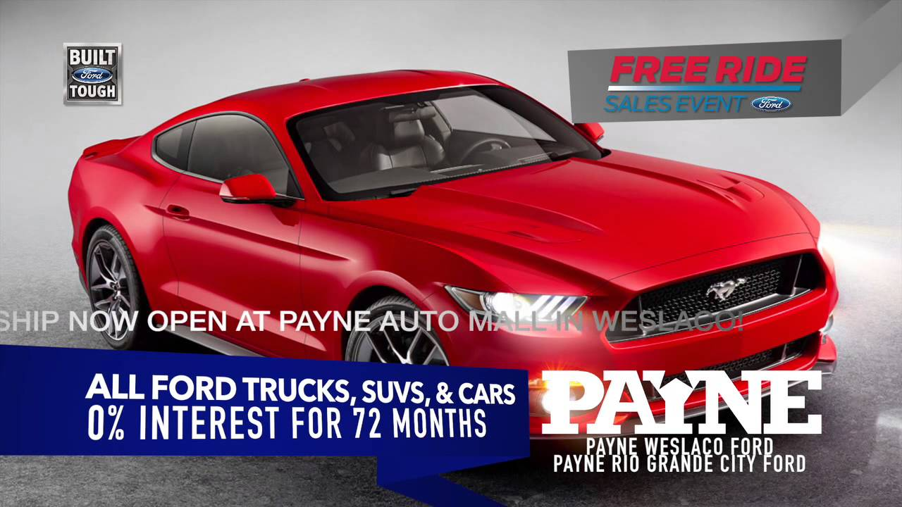 0 Interest For 72 Months On All Ford Vehicles Payne