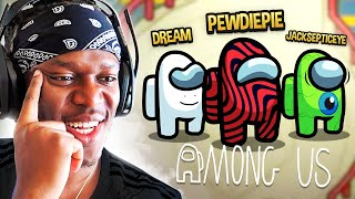 SIDEMEN AMONG US vs PEWDIEPIE, DREAM & JACKSEPTICEYE