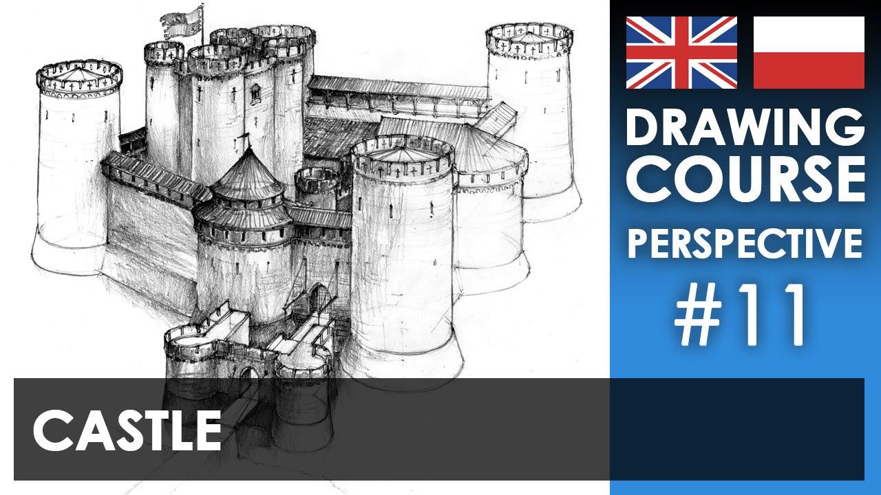 Drawing tutorial - Castle | Kurs rysunku - Zamek [S01E11 ENG/PL]