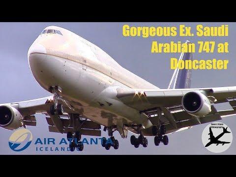 Gorgeous Air Atlanta Icelandic Ex. Saudi Arabian Cargo Boeing 747 At Doncaster | 05/11/17