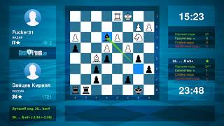 Chess Game Analysis: Fucker31 - Зайцев Кирилл : 0-1 (By ChessFriends.com)