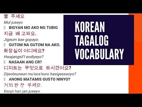 KOREAN TAGALOG VOCABULARY