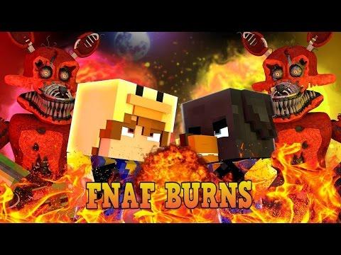 Minecraft - FNAF GOLDEN FREDDY IN MINECRAFT BURNS - Little Club Baby Max Modded Mini Games