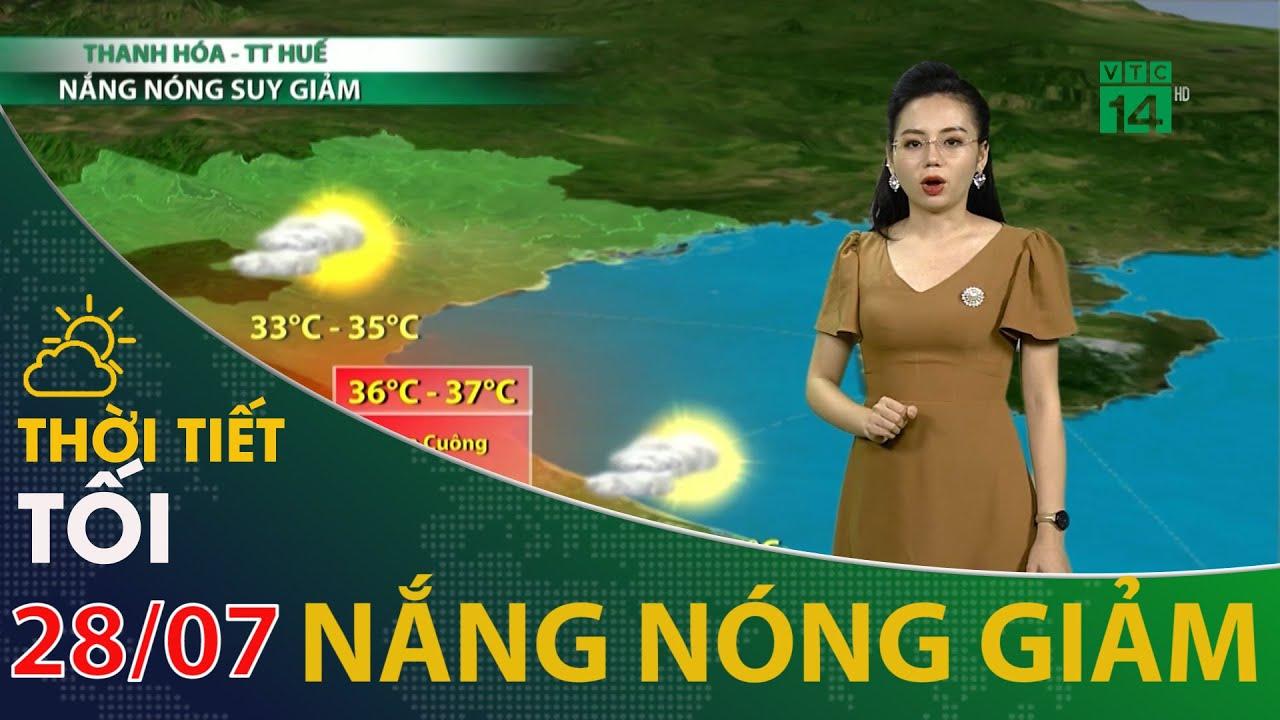 Dự báo thời tiết đêm nay và ngày mai 29/07/2020 | VTC14