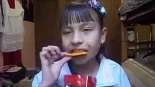 Doritos girl -eats to cha cha slide