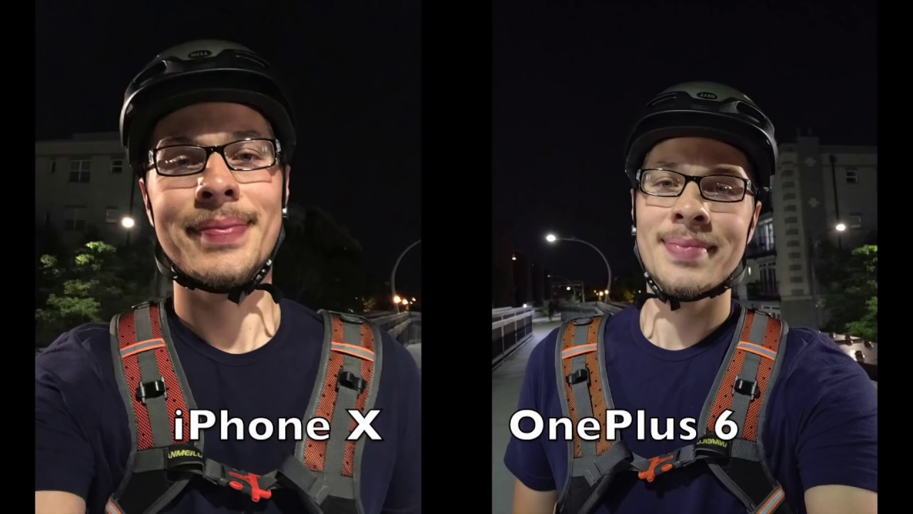 iPhone X vs OnePlus 6 Camera Comparison! Video