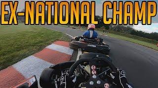 Intense Kart Race Against Ex-National Champion