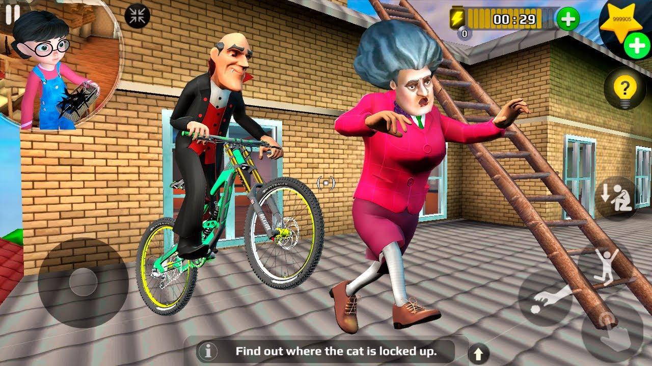 Download Scary Teacher 3D - Vampire Ride Bike Miss T Run (Android/iOS) 2020 FHD