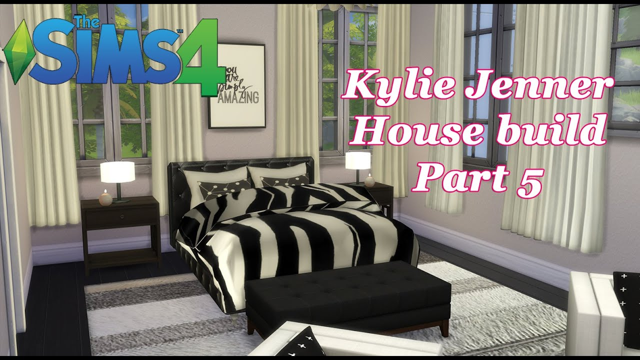 Sims Bedroom The Sims 4 Kylie Jenner House Build Cc Master Bedroompart 5