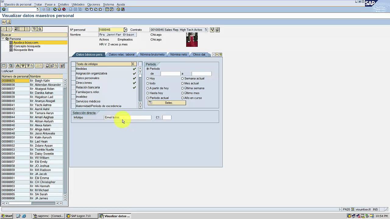 4 4 Curso Hcm Clase 4 Infotipos En Hcm Salario Horario Medidas Consultor Sap
